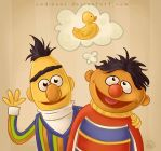 Bert and Ernie by CodiBear