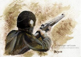 Band of Brothers - Carentan #1 ArtCard by Jeanne-Lui