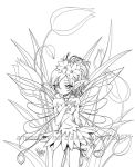 fairy and tulip... lineart by sureya