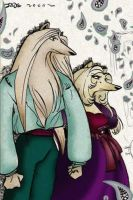 Canine couple - Beast people by JadeGL