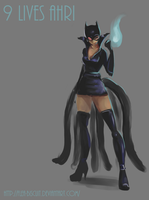 9 Lives Ahri concept by Flea-biscuit