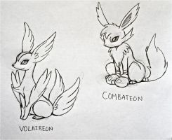 Project Fakemon: Volaireon and Combateon by XXD17