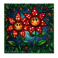 The Polkadotted Flowers by Xenonia