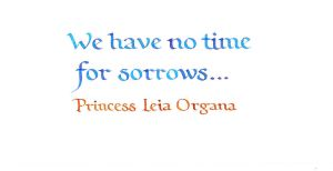 Leia Organa - No Time for Sorrows by MShades