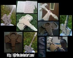Mjollnir from Tomb Raider - WIP photos by Dj3r0m