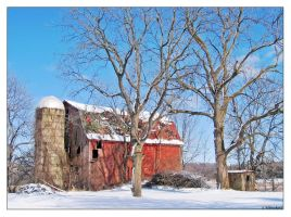 Winter Barns 1 by Limaria