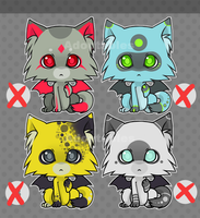 Kitty adoptables SET 4 by SylwiaPakulska