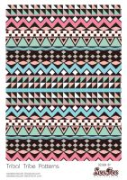 Tribal Tribe Patterns #5 by SeeTeeArtwork