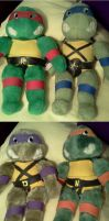 TMNT: Plushies by Fulcrumisthebomb