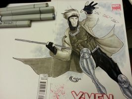 gambit sketchcover copics by Sajad126