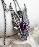 Dark Angel Pendant -Purple by Aranwen