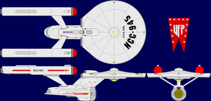 USS Asia (TOS upgrade) by MarcusStarkiller