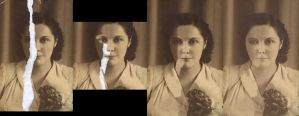 Repairing a photo - Progress by Tusaara