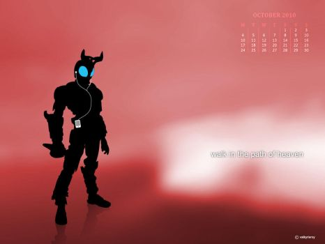 Kabuto Siluet wallcalendar by jayicesight