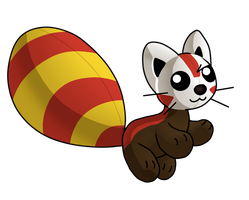 Tanya the stuffed red panda by X--O