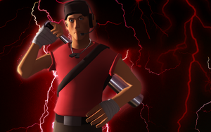 TF2: Red Scout Poster Attempt 2 by SovietMentality