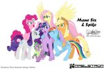 Mane Six and Spike group shot colour version by meto30