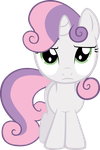 Sweetie Belle Is Not Amused by EkkitaTheFilly