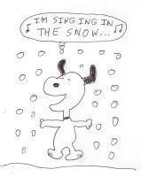 Snoopy - singing in the snow by dth1971