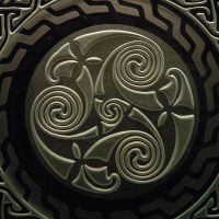Etched Celtic Spiral closeup by ImaginedGlass
