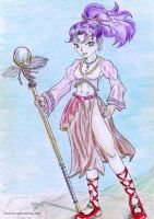 Priestess character design by soulblade35