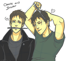 Charlie and Draper: GREASERS by Jellygay