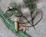 Caribou Antler Necklace by lupagreenwolf