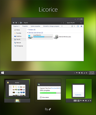 Licorice for Windows 10 Technical Preview by link6155