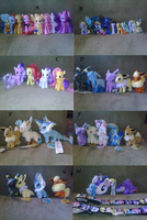 Plushies, MLP figures,etc for sale by Toshiko-paws