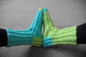 First Knitted Socks! (2) by Jane-Rt