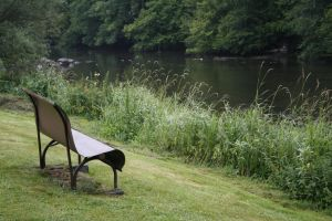 the bench near the river by WouldYouEraseMe