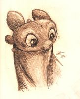 Curious Toothless by AmmyWolf95