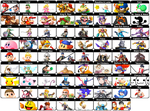 Smash 5 Dream Roster by Gregster101