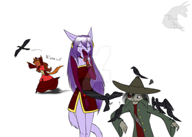 Crows - colored by draykathedragon