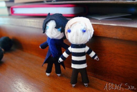 John and Sherlock Voodoo Dolls by ABlackSun