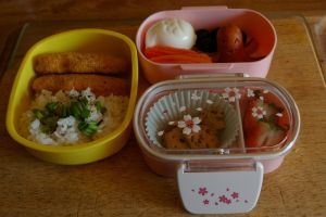 Girl's Happy Takosurimi Bento by TheSpyderDuster
