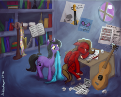 Bass Cliff and Harmony by bibliodragon