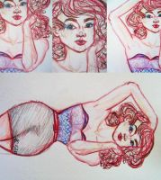 Pin Up Sketch by LSD-Dreams