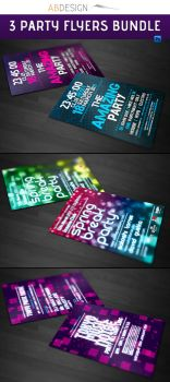 3 Party Flyers Bundle Pack by andre2886