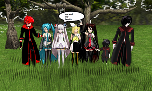 my family by MMDGLaDOS