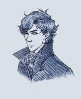 BBC Sherlock Sketch by Scribblerb