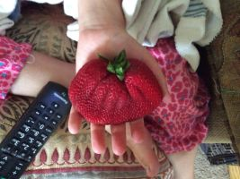 GIANT STRAWBERRY by Thebosspotato2015