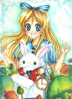 Alice in wonderland fan art by mangamimi08