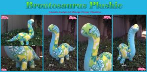 Brontosaurus Plushie SOLD by SPPlushies