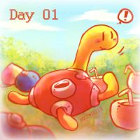 Day 01 - Favourite Bug Type by Mikoto-chan