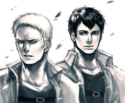 Reiner and Bertholdt by Ecthelian