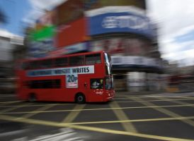 Bus Late in London by Abylone