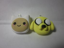 Polymer Clay Finn and Jake by Darklunax110