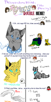 Double meme with Leopardfire427 by Finchwing