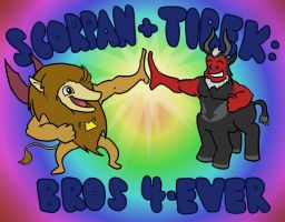 Scorpan and Tirek: Bros 4-Ever by Man-Eating-Llama